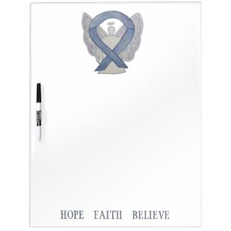 Silver Awareness Ribbon Custom Dry Erase Board