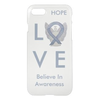 Silver Awareness Ribbon Custom iPhone 7 Angel Case