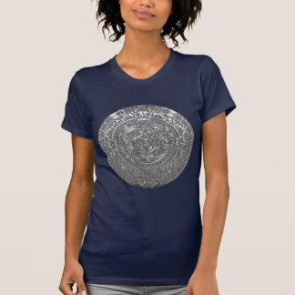 Silver Aztec Calendar T-shirts