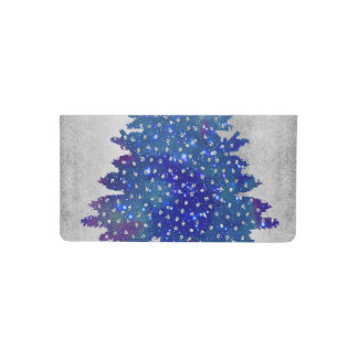 silver background - blue and silver looking tree.p checkbook cover