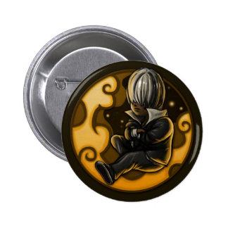 silver badge pinback button