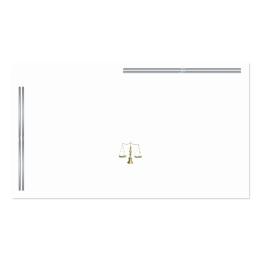 Silver Bar Legal Scale Business Card