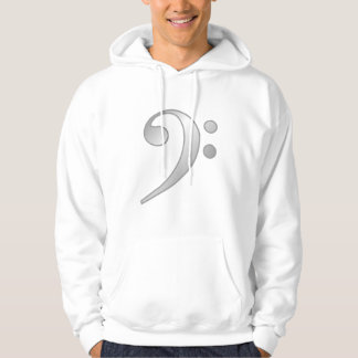 Silver Bass Clef Hoodie