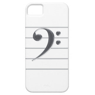 Silver Bass Clef Music iPhone 5 Case