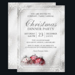 """Silver Baubles Snowflakes Christmas Holiday Party Invitation<br><div class=""""desc"""">Silver Baubles Snowflakes Christmas Holiday Party Invitation. (1) For further customization, please click the """"customize further"""" link and use our design tool to modify this template. (2) If you prefer Thicker papers / Matte Finish, you may consider to choose the Matte Paper Type. (3) If you need help or matching...</div>"""