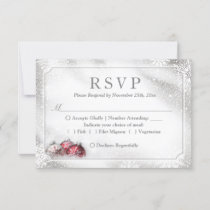 Silver Baubles Snowflakes Christmas Holiday RSVP