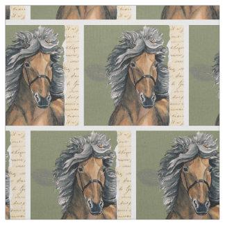Silver Bay Icelandic horse Fabric