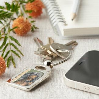 Silver Bay Icelandic Keychain