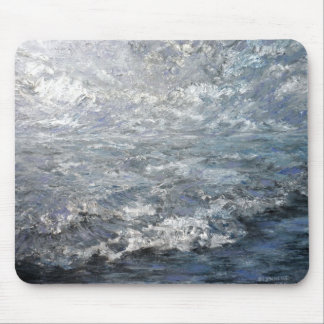Silver Beach Mouse Pad