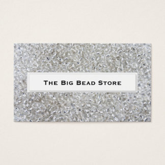 Silver Bead Business Cards