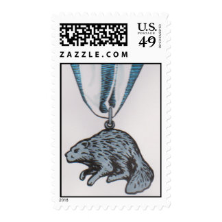 Silver Beaver Scout Postage Stamp HP David Smith