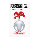Silver Bell Believe Postage Stamps