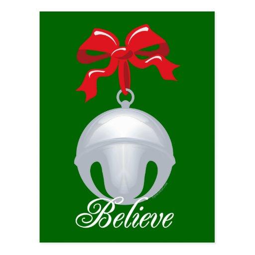Silver Bell Believe Postcard