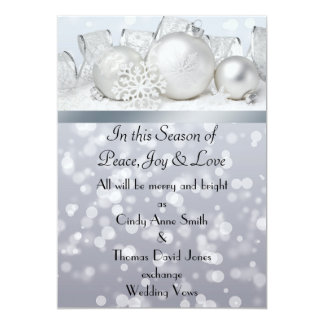 Silver Bell Christmas  Wedding Invitation