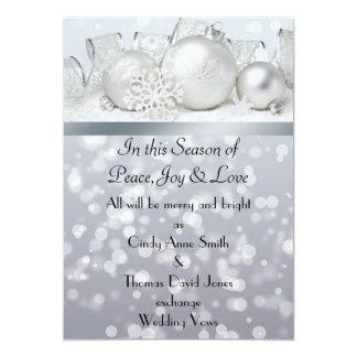 Silver Bell Christmas  Wedding Invitation