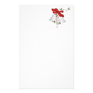 Silver Bells and Red Ribbon Stationery