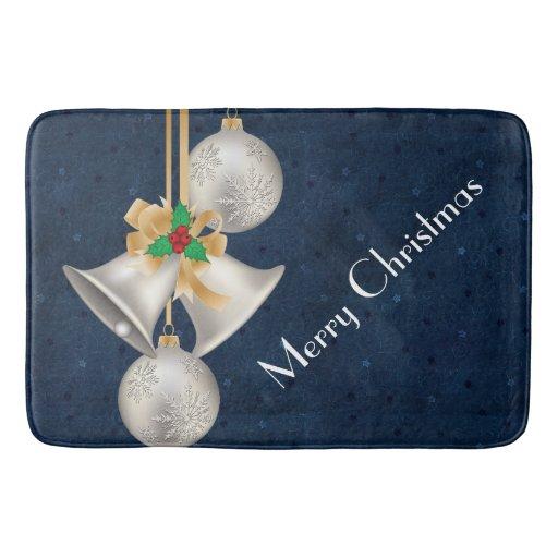 Silver Bells Christmas Bathmat