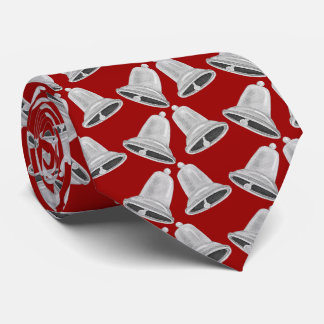 Silver Bells Christmas Neck Tie