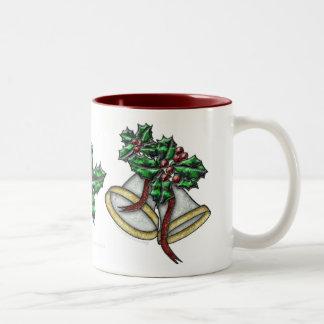 Silver Bells Drinkware Two-Tone Coffee Mug