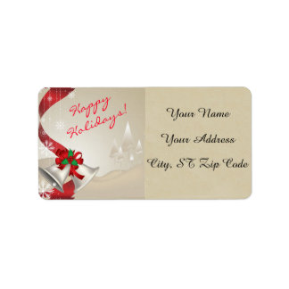 Silver Bells Holiday Christmas Address Label