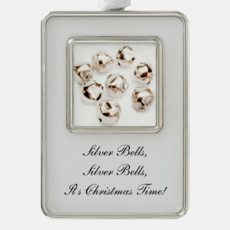 Silver Bells - ornaments Silver Plated Framed Ornament