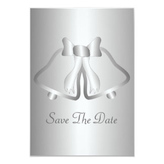 Silver Bells Save The Date Card