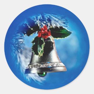 Silver Bells Classic Round Sticker