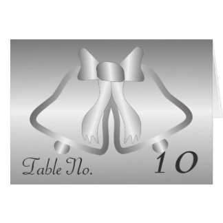 Silver Bells Table Setting Card
