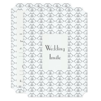 Silver Bells Wedding Invite
