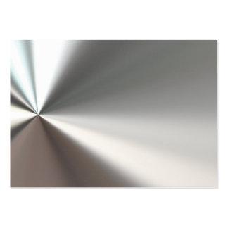 Silver Bent Metal Business Cards