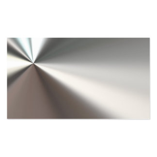 Silver Bent Metal Look Business Cards