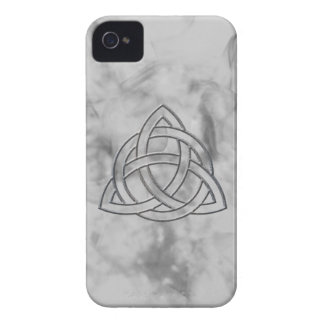 Silver Bevel Triquetra Case-Mate iPhone 4 Cases