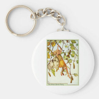 Silver Birch Fairy Keychain