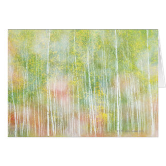 Silver Birch Trees Card