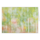 Silver Birch Trees Greeting Cards