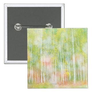 Silver Birch Trees Pinback Button