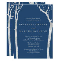 Silver Birch Trees Wedding Invitations
