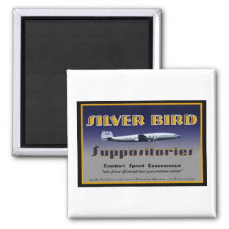 Silver Bird Suppositories magnet
