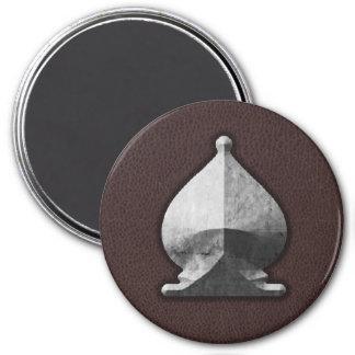 Silver Bishop - Zero Gravity Chess (SLS) Fridge Magnet