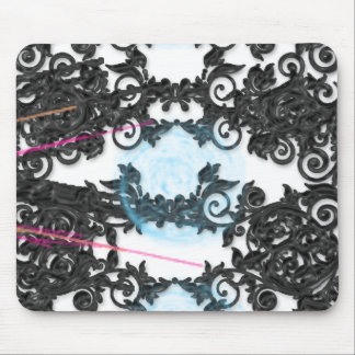 Silver Black Abstract Mouse Pad