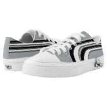 Silver Black and White Sojourn Max Low-Top Sneakers