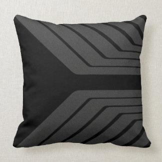 Silver Black Array Pillow