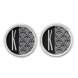 Silver & Black Art Deco Cufflinks