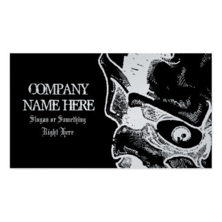 silver & black business card