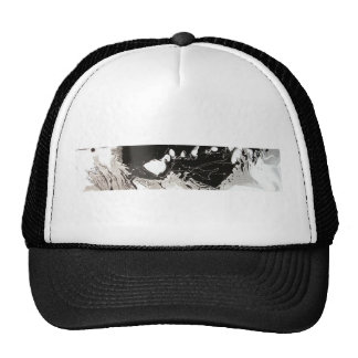 Silver Black Drip Trucker Hats