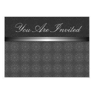 Silver Black Elegant Invitation Card