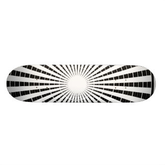 Silver Black - Enchanting Source Waves Skateboard Deck