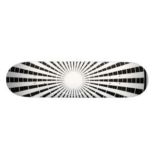 Silver Black - Enchanting Source Waves Skateboard Deck