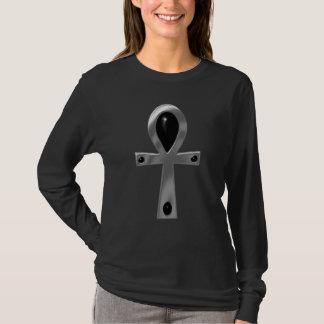 Silver & Black Gothic Ankh T-Shirt
