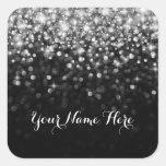 Silver Black Hollywood Glitz Glam Place Sticker